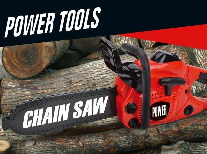 Pretend Play Tool Toys Rotating Chainsaw with Sound Simulati