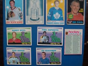 45 TO 47 YEARS OLD O=PEE=CHE HOCKEY CARDS !!!!!!!!!