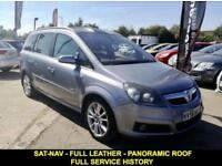2006 VAUXHALL ZAFIRA 1.9CDTI 150PS SAT-NAV LEATHER FULL SERVICE HISTORY