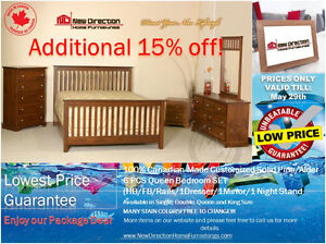 ◆Brand New Canadian-Made Solid Wood Customized Bedroom Set@ND!