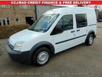 "2008 58 FORD TRANSIT CONNECT ""TOURNEO"" LWB, ## REAR SEATS ## AIR CON, EX POLICE"
