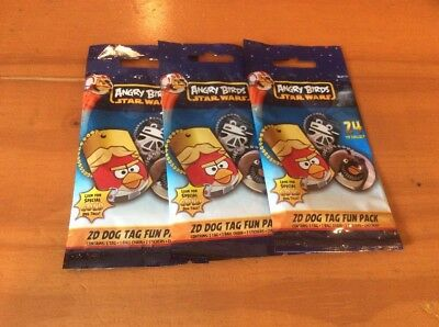 3 Packs Angry Birds Star Wars 2D Dog Tags Sealed Pack Lot Blind Bags - Angry Birds Blind Bags