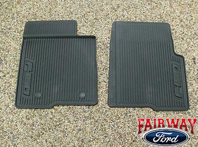 10 thru 14 Ford F 150 OEM Black Rubber All Weather Floor Mat Set 2 pc NEW