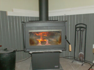 wood stove @ chimney