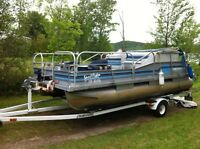 pontoon and trailer for sale