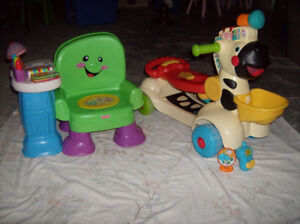 Vtech- Trotteur Trottino zèbre , Fisher Price Chaise musicale