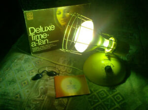 Vintage Time a Tan.  Tanning Lamp