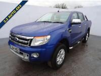 2014 64 FORD RANGER 2.2 LIMITED 4X4 DCB TDCI 1D AUTO 148 BHP IN DEEP IMPACT BLUE
