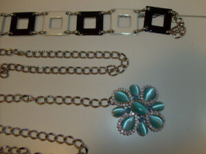 2 NEW Fashion Belts - Adjustable Chain Style