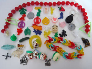 VINTAGE CRACKER JACK CHARMS GUMBALL PREMIUMS TOYS