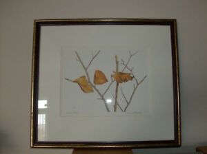 Framed Print Winter Breeze By Conrad Mieschke + Tulip Lamp