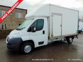 2013 63 CITROEN RELAY, LUTON, BOX, TAIL LIFT, BIG 130-BHP, 1 FLEET OWNER, F.S.H.