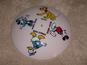 REDUCED-1970's Disney Light Shade -mint condition