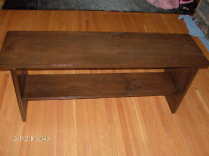 Solid wood bench, just refinished!