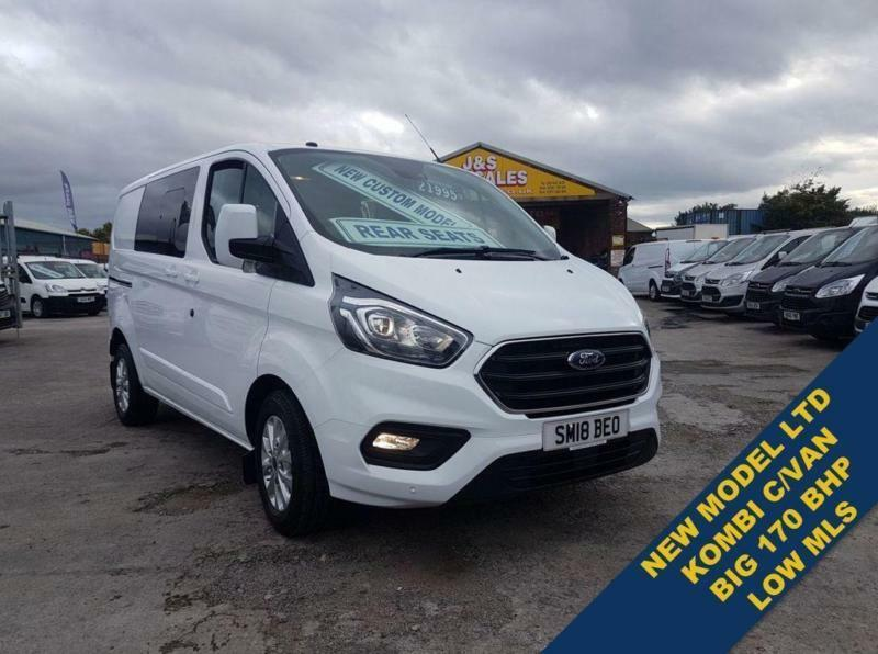 1fa1528de9 2018 18 FORD TRANSIT CUSTOM BIGGER 170 BHP L.T.D CREW VAN ( NEW MODEL )