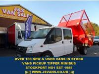 2010 10 FORD TRANSIT FORD TRANSIT CREWCAB TIPPER T350 TWIN WHEEL LOW MLS DIESEL