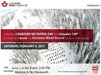 Canadian Ski Patrol Day & Guinness World Record for Snow Angels