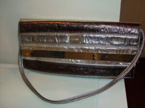 4 NEW Purses - Tiffany Style Clutch,  Celebrity & Leather Sas