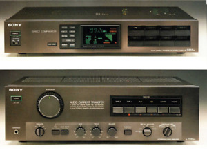 Sony TA-F555ES Amplifier and ST-S555ES Stereo Tuner