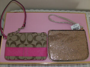New Wristlet, Makeup Brushes + 3 NEW Purses or Handbags