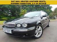 STUNNING 2007 JAGUAR X-TYPE 2.5 V6 AWD MOTHER DAUGHTER OWNED SAT NAV LEATHER
