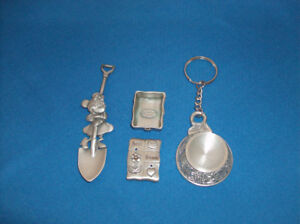 NEW Collectors 3 Pewter Pieces - Disney Minnie Mouse Only $5 ea