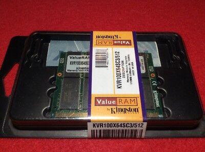 - RARE Kingston ValueRAM 512 MB DIMM 100 MHz SDRAM Memory KVR100X64SC3/512