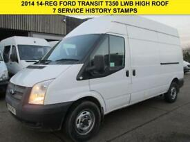 2014 14 FORD TRANSIT 2.2TDCI T350 LWB HIGH ROOF. 1 OWNER. FSH. CHEAPEST 2014 DIE