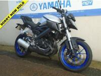 2015 YAMAHA MT 125 ABS SILVER **LOW MILES**