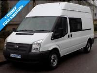 61(12) FORD TRANSIT 350 LWB HIGH ROOF MESS / UTILITY 2.2 RWD 125 BHP 6 SPEED