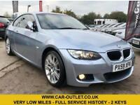 2009 BMW 320D M-SPORT COUPE VERY LOW MILES-FULL SERVICE HISTORY-2 KEYS-LONG MOT