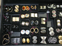 Lots & Lots of Men's Cufflinks & tie clips Jewelry