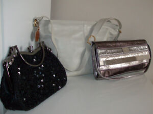 Purses or Handbags, 2 Tote Bags and Men's Wallet- Credit Cards