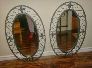 2 beautiful mirrors framed  adds to a home   luxury personified