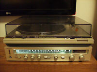 Stereo Receiver Technics + Table Tournante Vintage Turntable