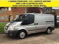2011 11 FORD TRANSIT 2.2TDCI T260 TREND SWB LOW ROOF 115BHP SILVER. ONLY 43,000