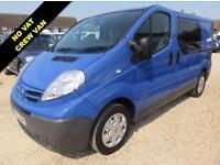 2011 61 NISSAN PRIMASTAR 2.0 SE DCI 115 BHP SWB CREW VAN NO VAT 49,483 MILES ONL