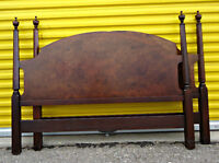A pair of vintage double size poster headboards, (delivery)
