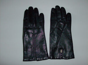 2 Pair of Black Leather Gloves  $10 and $15