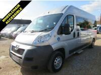 2013 63 PEUGEOT BOXER 2.2 HDI 335 L3H2 130 BHP 11 SEAT WHEELCHAIR ACCESSIBLE MIN
