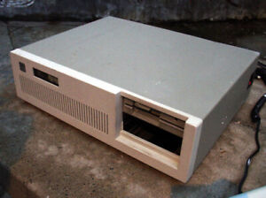Old desktop computer with a 5.25-inch floppy drive