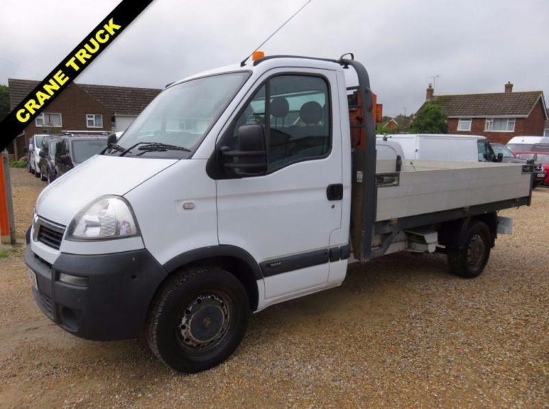2006 55 VAUXHALL MOVANO 2.5 3500 MWB CDTI DROPSIDE TRUCK WITH CRANE 59086 MIES D