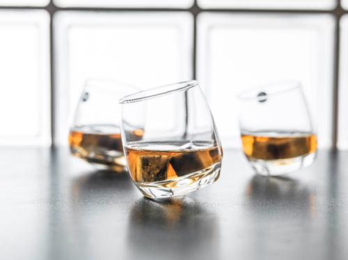 6 x Bar Rocking Whisky Glas Whiskey Trinkglas Gläser - runder Boden 200 ml
