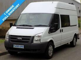 61(11) FORD TRANSIT 350 LWB HIGH ROOF MESS / UTILITY 2.4 RWD 100 BHP 6 SPEED