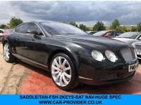 2004 04 BENTLEY CONTINENTAL 6.0 GT 2DR AUTO 552 BHP-FSH-2KEYS-SADDLE TAN/WALNUT