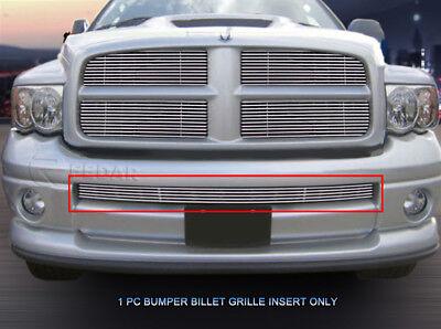- Lower Bumper Billet Grille Grill  For 2002 2003 2004 2005 Dodge Ram Sport