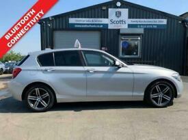 2013 63 BMW 1 SERIES 2.0 116D SPORT 5 DOOR SILVER DIESEL LOW TAX BLUETOOTH DAB