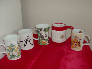 5 New Mugs - Disney, Indigo + Teapot + Rubbermaid Containers