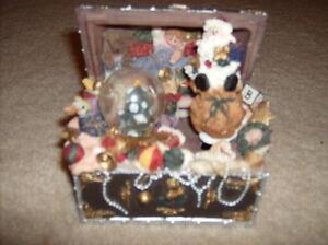 Christmas Music Box and Train Decorations