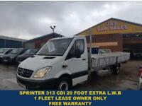 2012 62 MERCEDES-BENZ SPRINTER DROPSIDER EXTRA L.W.B 20 FOOT 313 CDI 1 OWNER PIC